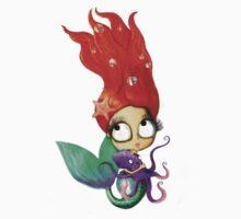 Red Hair Spooky Mermaid One Piece - Long Sleeve