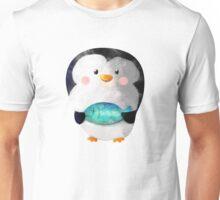 Cute Penguin and Dead Fish Unisex T-Shirt