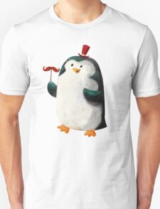 Fancy Penguin with Mustaches on the stick T-Shirt