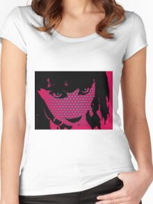 Abstract face 2 Women's Fitted Scoop T-Shirt
