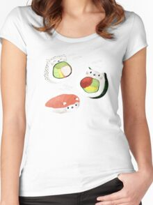 Cute Sushi Rolls Women's Fitted Scoop T-Shirt