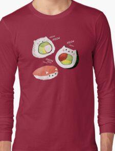 Cute Sushi Rolls Long Sleeve T-Shirt