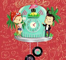 Rock 'n' Roll Cuckoo Clock by colonelle