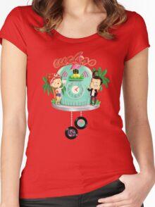 Rock 'n' Roll Cuckoo Clock Women's Fitted Scoop T-Shirt