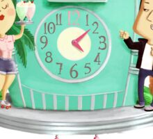 Rock 'n' Roll Cuckoo Clock Sticker