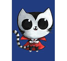 Cute Vampire Cat Photographic Print