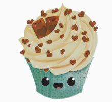 Cute Kawaii Vanilla Cupcake One Piece - Long Sleeve
