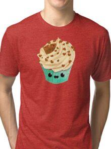 Cute Kawaii Vanilla Cupcake Tri-blend T-Shirt