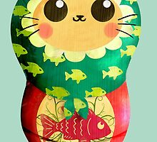 Little Matryoshka Cat Doll by colonelle