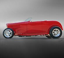 1932 Ford Roadster 'Profile in Red' by DaveKoontz