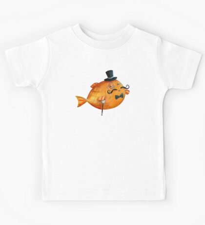 Sir Fish with Mustaches Kids Tee