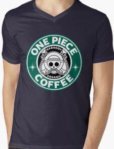 One Piece Coffee Mens V-Neck T-Shirt