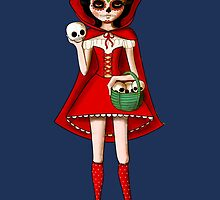 El Dia de Los Muertos Red Riding Hood by colonelle