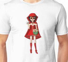 El Dia de Los Muertos Red Riding Hood Unisex T-Shirt