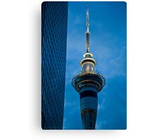 Blue Tower of Auckland Canvas Print