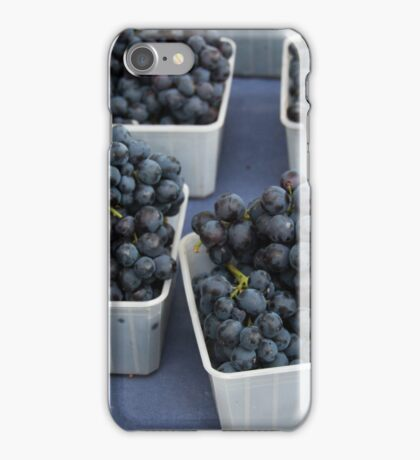 Red Grapes at the Montpellier Market iPhone Case/Skin