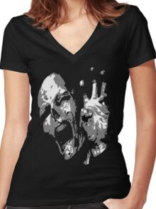 Mummy Scream Women's Fitted V-Neck T-Shirt