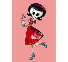 Sweet & Scary Skeleton Pin Up Girl Photographic Print