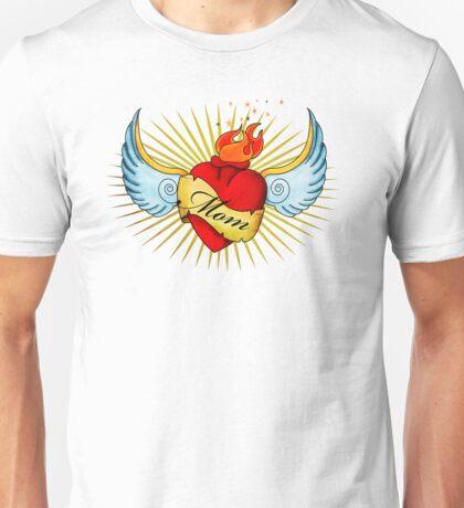 Old School Mom's Heart Unisex T-Shirt