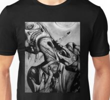 """Moonlight Zombie"" Dark Art by VCalderon Unisex T-Shirt"
