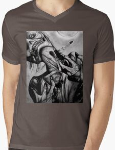 """Moonlight Zombie"" Dark Art by VCalderon Mens V-Neck T-Shirt"