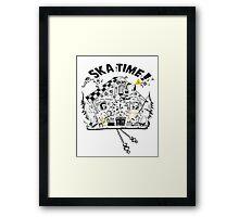 2 Tone Ska Time Cuckoo Clock Framed Print