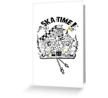 2 Tone Ska Time Cuckoo Clock Greeting Card