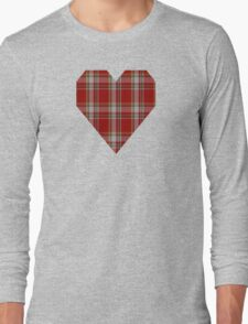 00180 Manx Laxey, Red (District) Tartan Long Sleeve T-Shirt