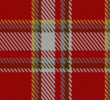 00180 Manx Laxey, Red (District) Tartan Sticker