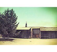 Around Winter Barn 2 Photographic Print