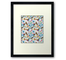 pattern multicolored butterflies Framed Print