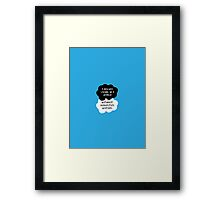 TFIOS - I dislike living in a world without Augustus Waters Framed Print