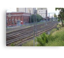 The lines between the rocky burbs and a harsh place Canvas Print