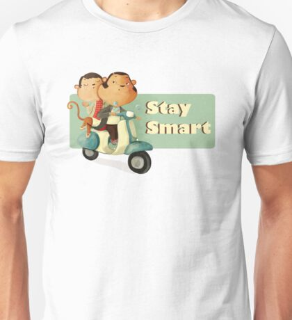Stay Smart Scooter Monkeys Unisex T-Shirt