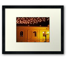 Christmas Lights in the Old City Framed Print