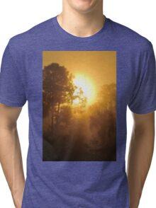Monument Lake Sunrise, As Is Tri-blend T-Shirt