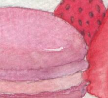 berry macaron Sticker