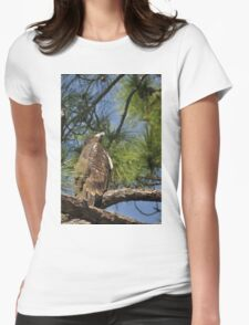 Bald Eagle Fledgling, As Is Womens Fitted T-Shirt