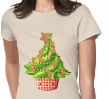 Cute Christmas Tree Womens Fitted T-Shirt