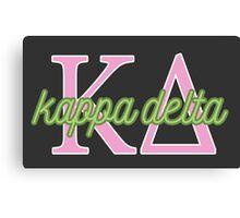 Kappa Delta KD ΚΔ Canvas Print