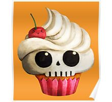 Delicious Skull Cupcake Poster