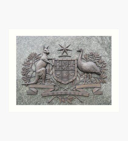 Crest of Australia Art Print