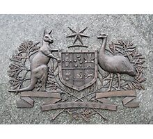 Crest of Australia Photographic Print