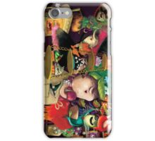Three Halloween Witches in the kitchen iPhone Case/Skin