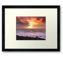 """Calm after storm - Port Patrick Irish Sea "" Framed Print"