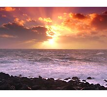 """Calm after storm - Port Patrick Irish Sea "" Photographic Print"