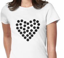 Dots Heart Womens Fitted T-Shirt