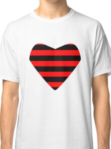 Striped Heart Classic T-Shirt