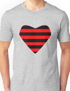 Striped Heart Unisex T-Shirt