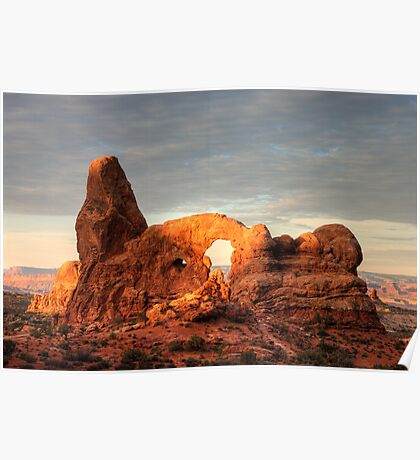 Sun-Touch on Turret Arch Poster